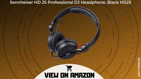 Sennheisers HD 25 Professional DJ Headphone, Black HD25